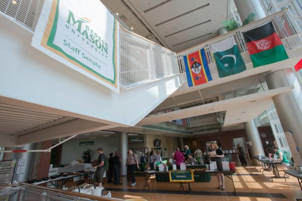 The Katherine G. Johnson Atrium - Interior (on Mason's SciTech Campus)