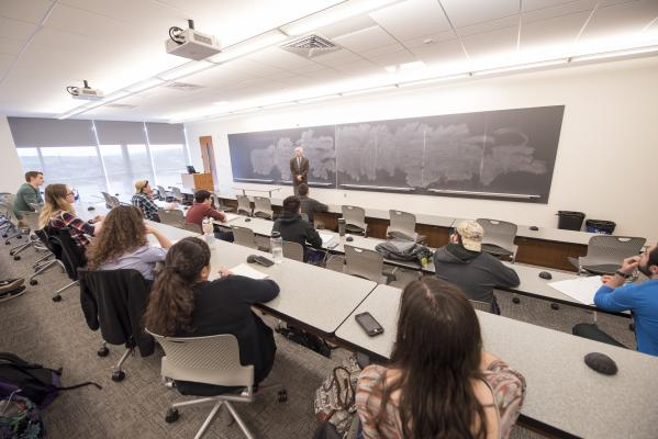 classroom, lecture, breakout space, meetings