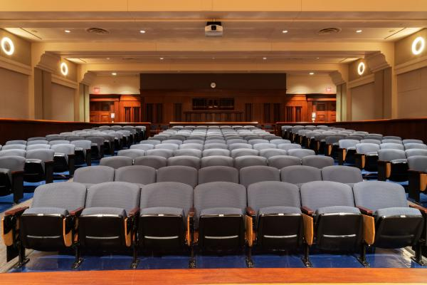 Loosemore Auditorium with seating for 232 guests