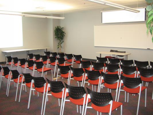Theatre Style seating in a Medium Meeting Room