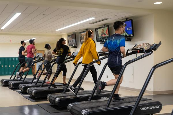Treadmills at GMU's Recreation and Athletic Complex (RAC)