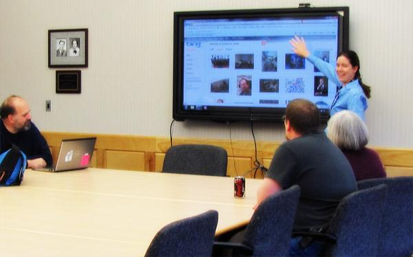 Alumni Boardroom with a smartboard