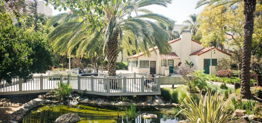 Scripps Cottage Patio and Koi Pond