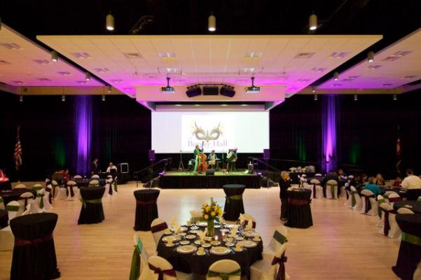 Berger Hall with a banquet style set-up