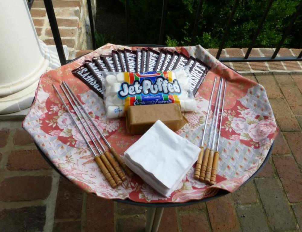 Bond with your group around the fire barrel with our complimentary s'mores!