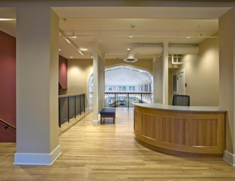Lobby of the Stitzer Welcome Center