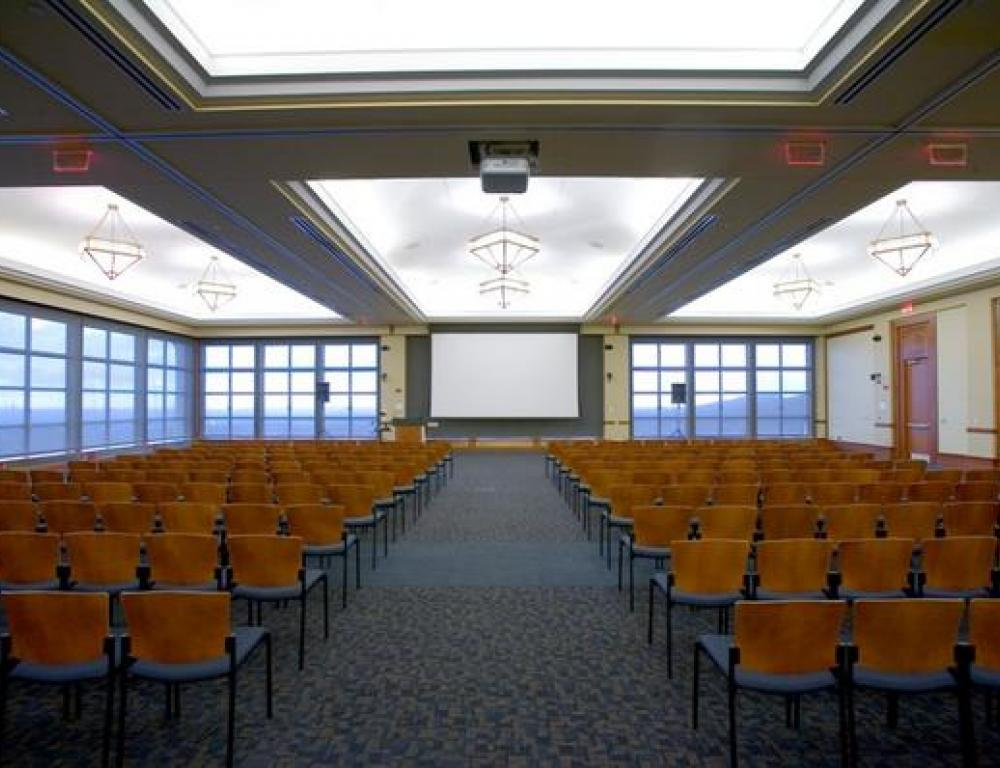 The University Hall Conference Center Ballroom accomodates up to 500 people