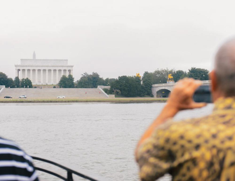 View the Monuments of Washington DC from the water on board a Yacht