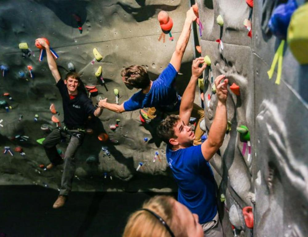 Halas Sports Center Rock Climbing Wall at Lake Shore Campus