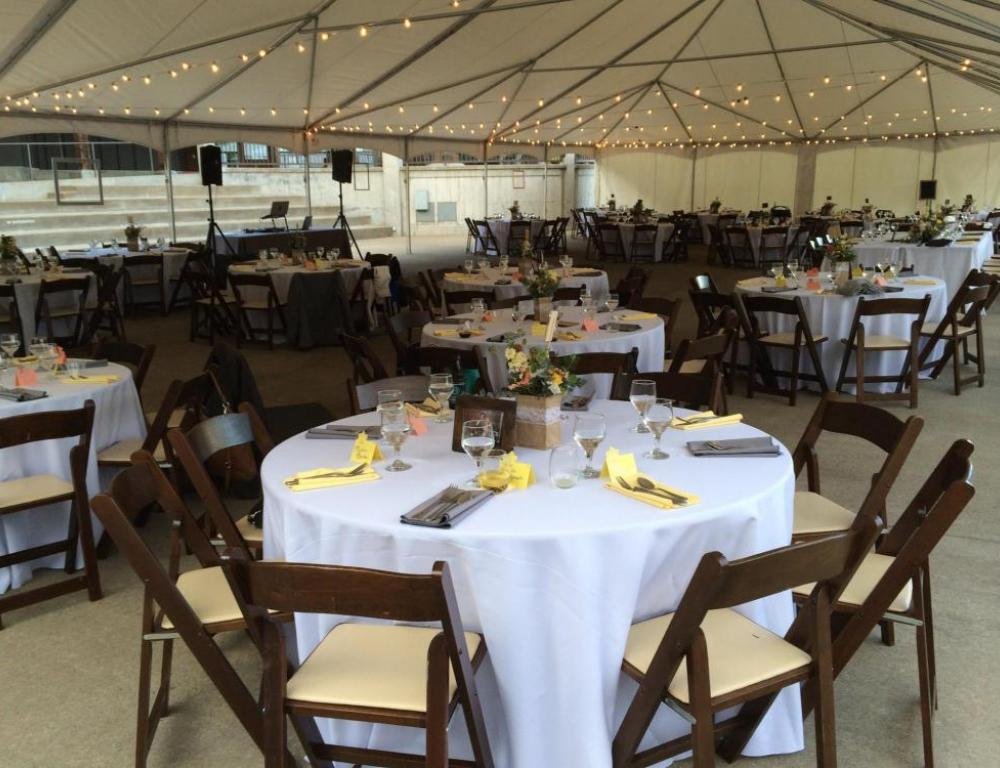 Our tented plaza is a wonderful way to enjoy the beautiful Pacific Northwest summers.