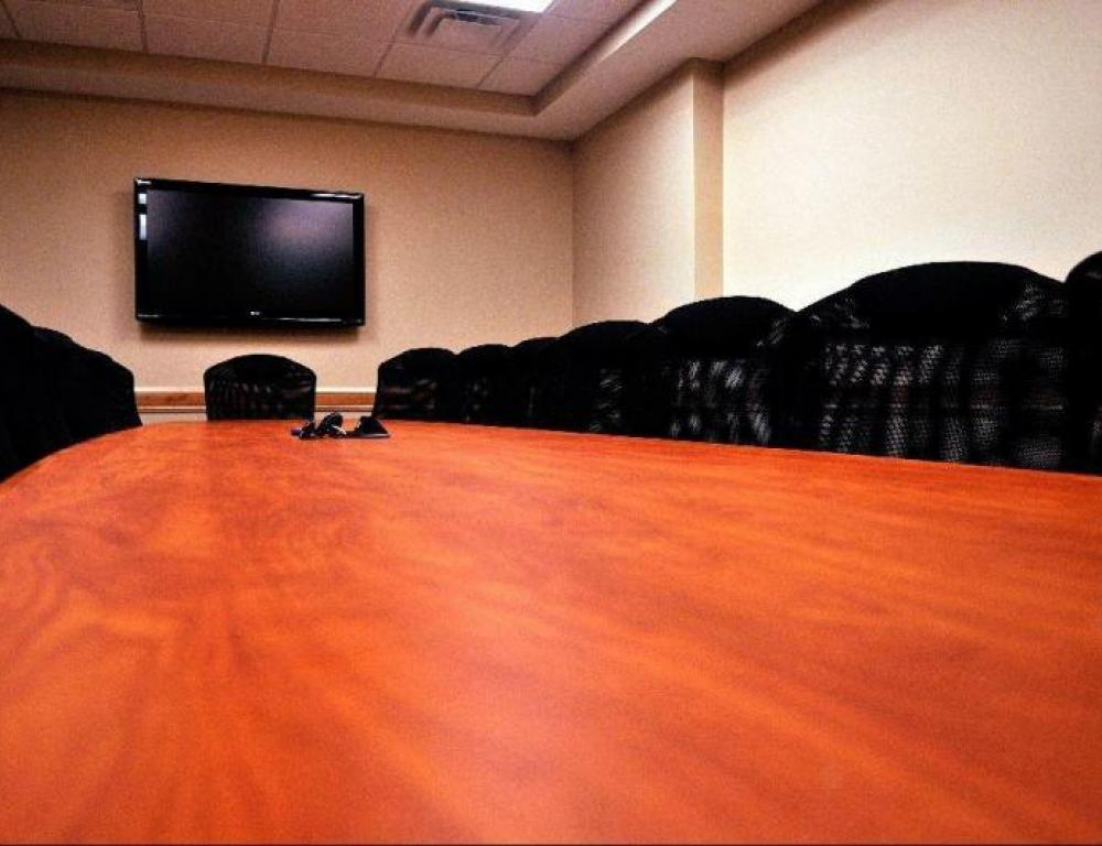 SNHU's professional boardrooms are complete with conference calling technology and LCD monitors for presentations