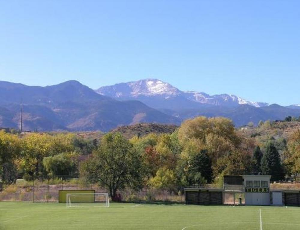 Campus located at the foot of Pikes Peak