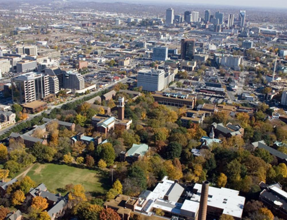 Vanderbilt's campus is just minutes from downtown Nashville