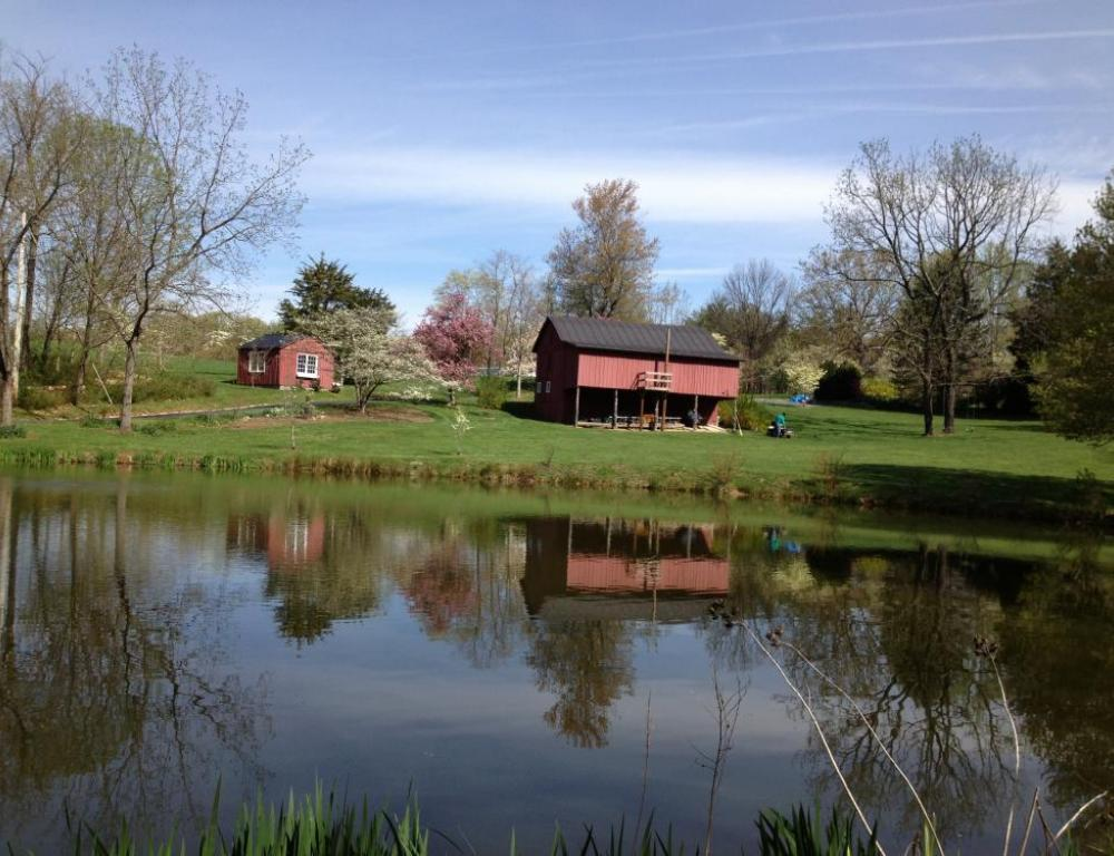 View of barn from Front lawn.
