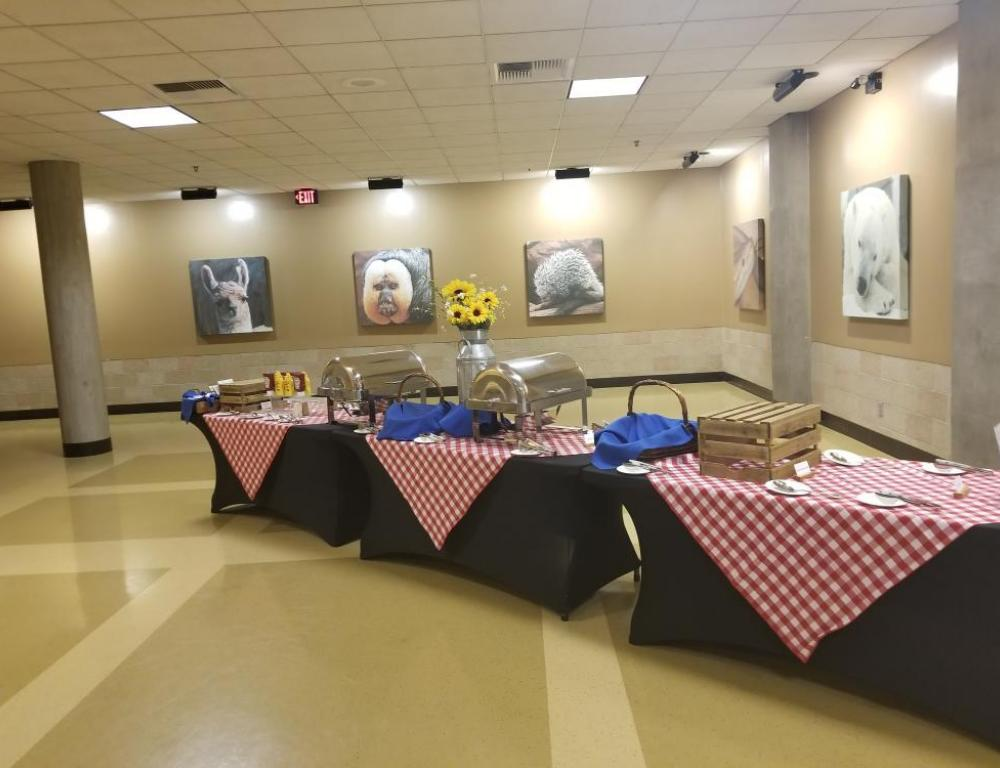 Lower Lobby Picnic Set-up