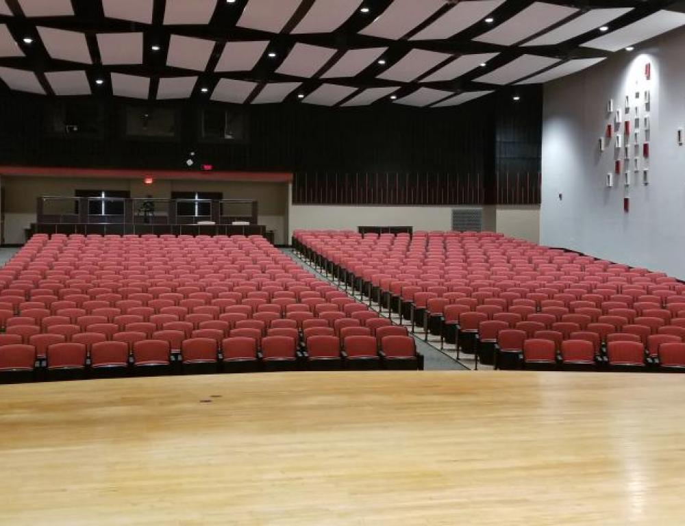 James Weldon Johnson Auditorium holds 835 people seated.