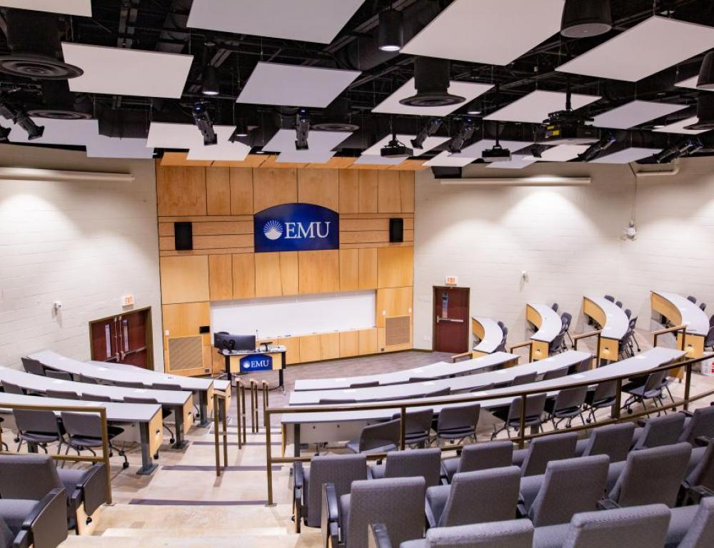 Newly renovated Suter Science Center lecture space