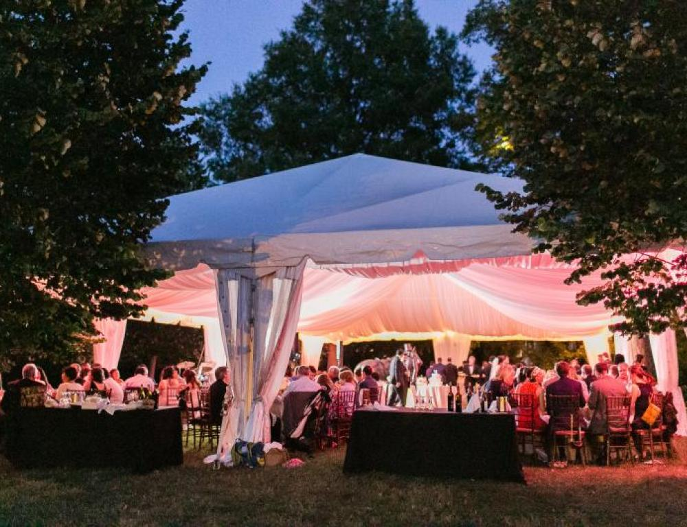 Tented dinner at President Lincoln's Cottage.