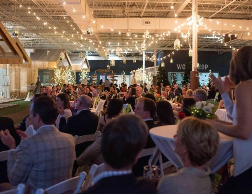Open Mixed Use Area- Guests Seated for Live Auction