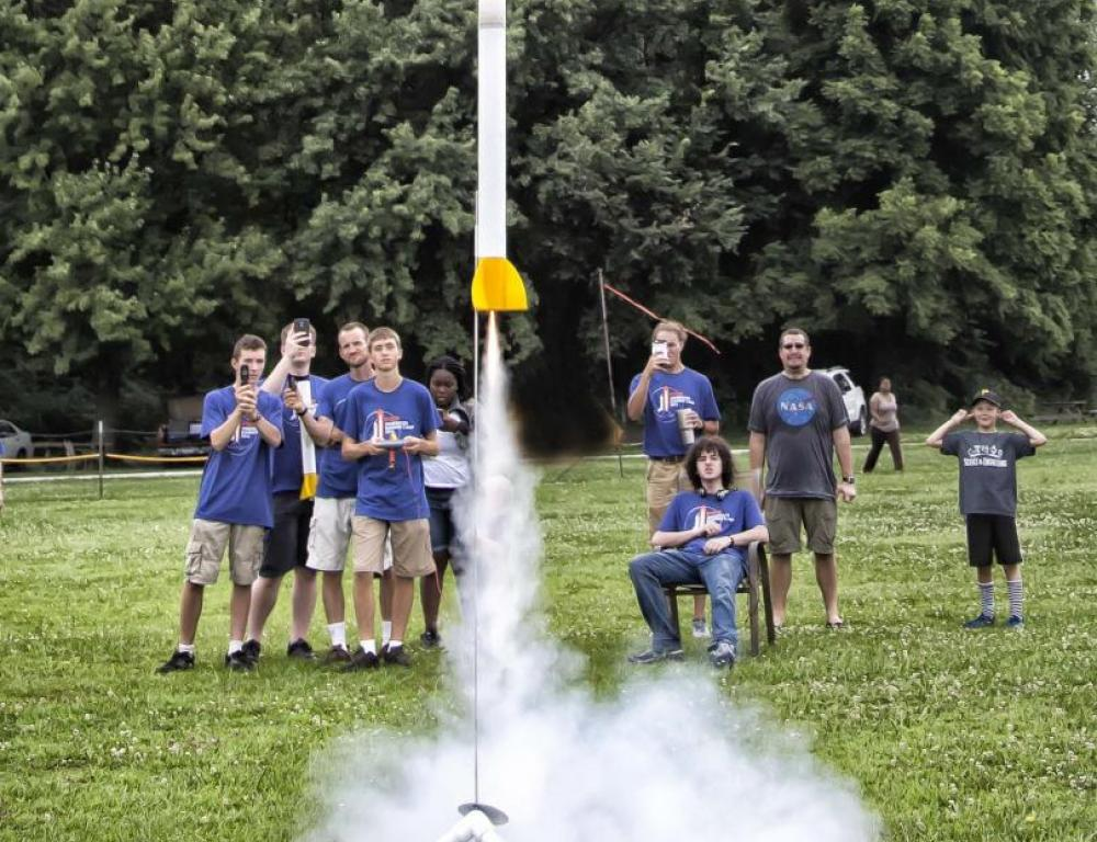 STEM Camp on AU's extensive outdoor grounds