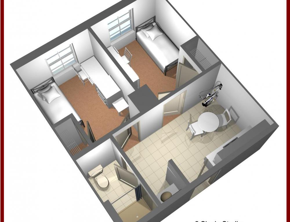 Residence Hall Double Suite Sample