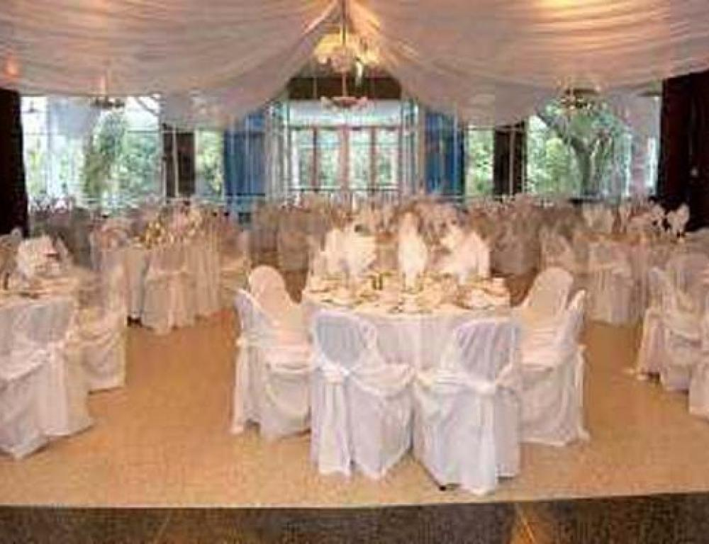 A weddding reception in the Hill Ballroom