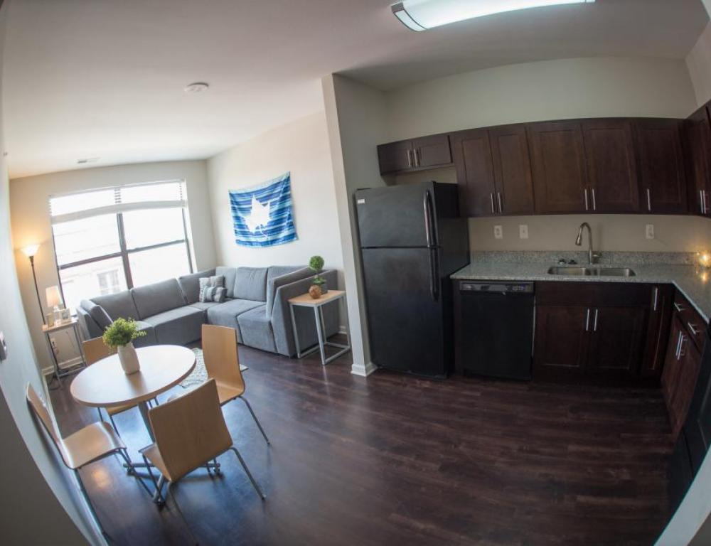 High-style downtown apartments available for long-term-stays and intern housing