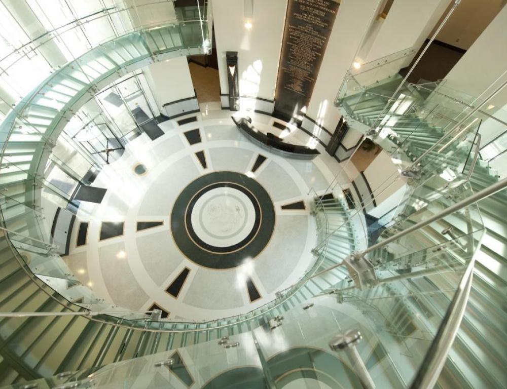 Glass Staircase in Lott Center