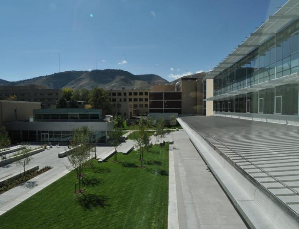 A view of campus from Marquez Hall