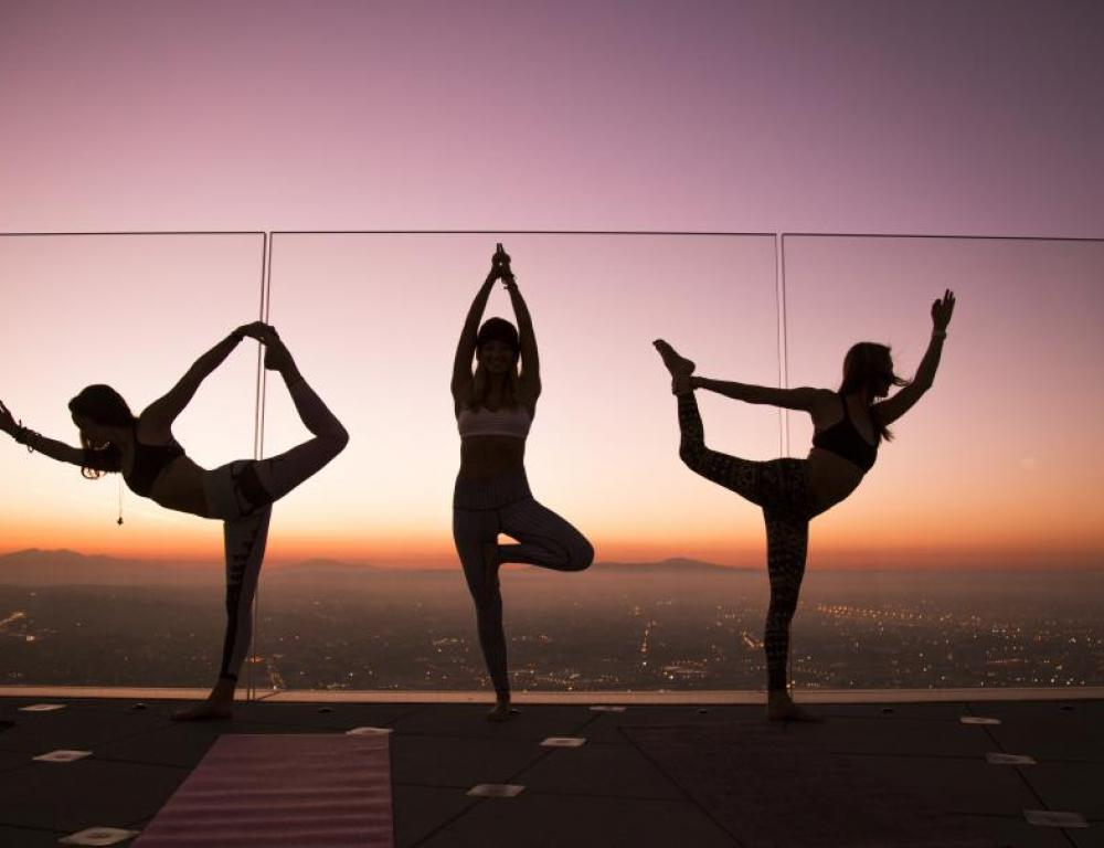 Skyspace is the perfect venue for unique events, even fitness classes!