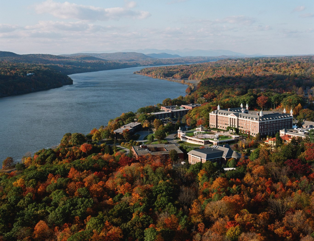 Campus Aerial with the Hudson River