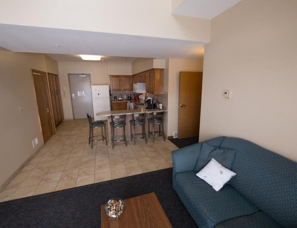 Niagara University's Apartments have spacious living areas and kitchens