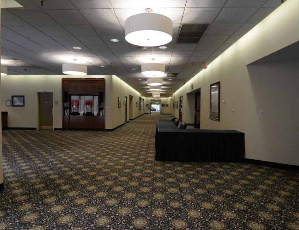 Auditorium Corridor can hold up to 38 Table Top Displays