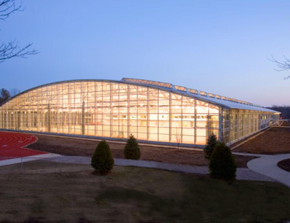 The Kenyon Athletic Center, completed in 2006, has a sleek modern look and plenty of space to accomodate meetings of all types.