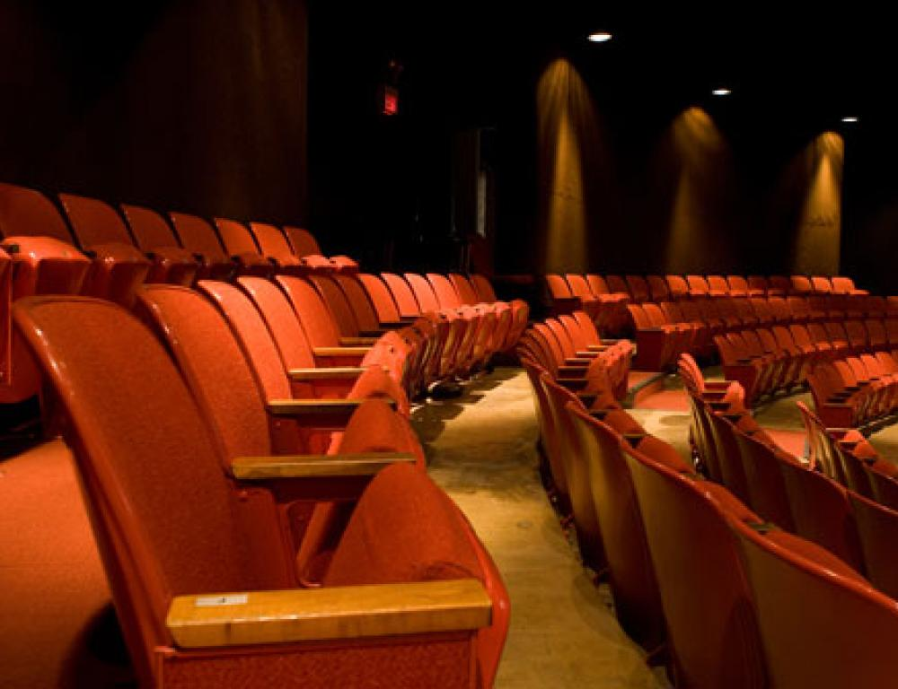 The Bolton Theater seats 389 people and features a thrust stage for performances.