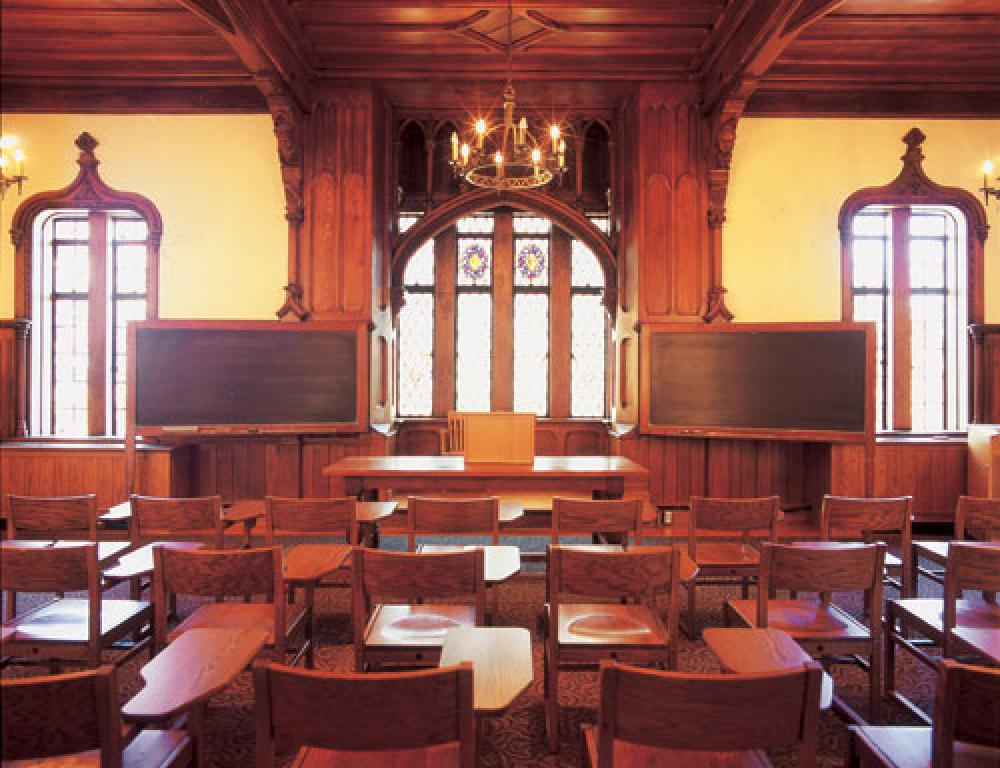 Philomathesian Hall is one of the College's oldest and most grandiose lecture halls, seating around 120 people.