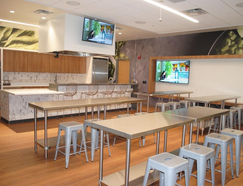 Bowers Wellness Center: DEMO Kitchen. Perfect for food demonstrations and events.