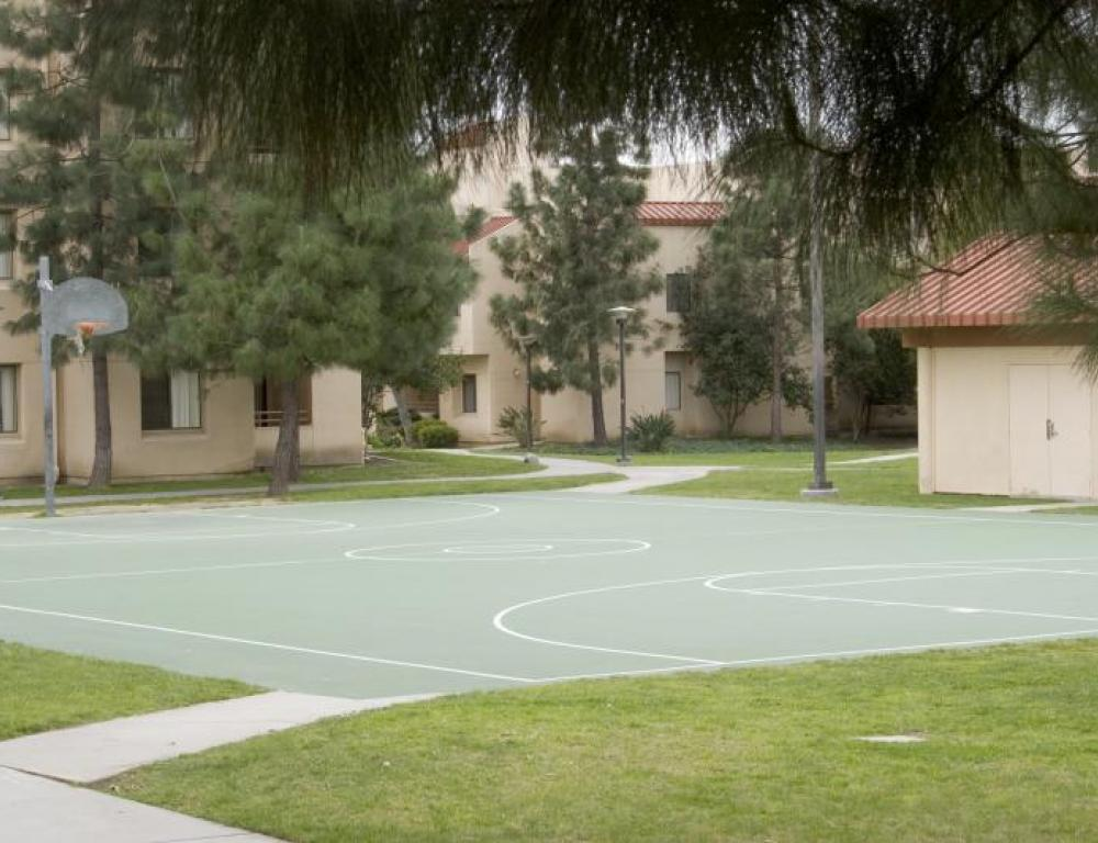 Outside Basketball Court