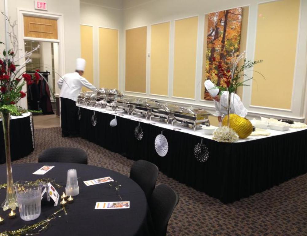 Buffet Style Catering in Blue Ridge Conference Room