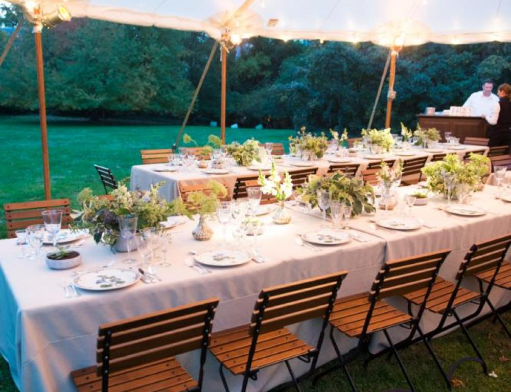 Outdoor Dinner on Tudor Place South Lawn