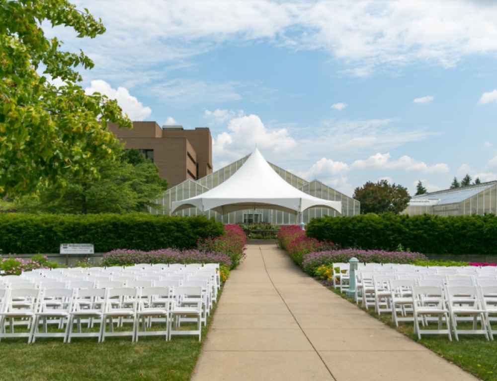 North Garden Ceremony Setup
