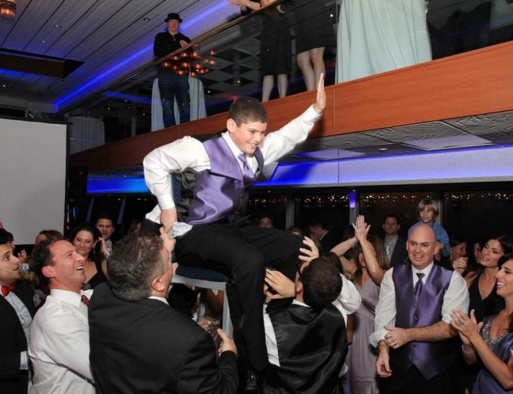 Bar Mitzvah Chair Dance aboard a Hudson Harbor Yacht