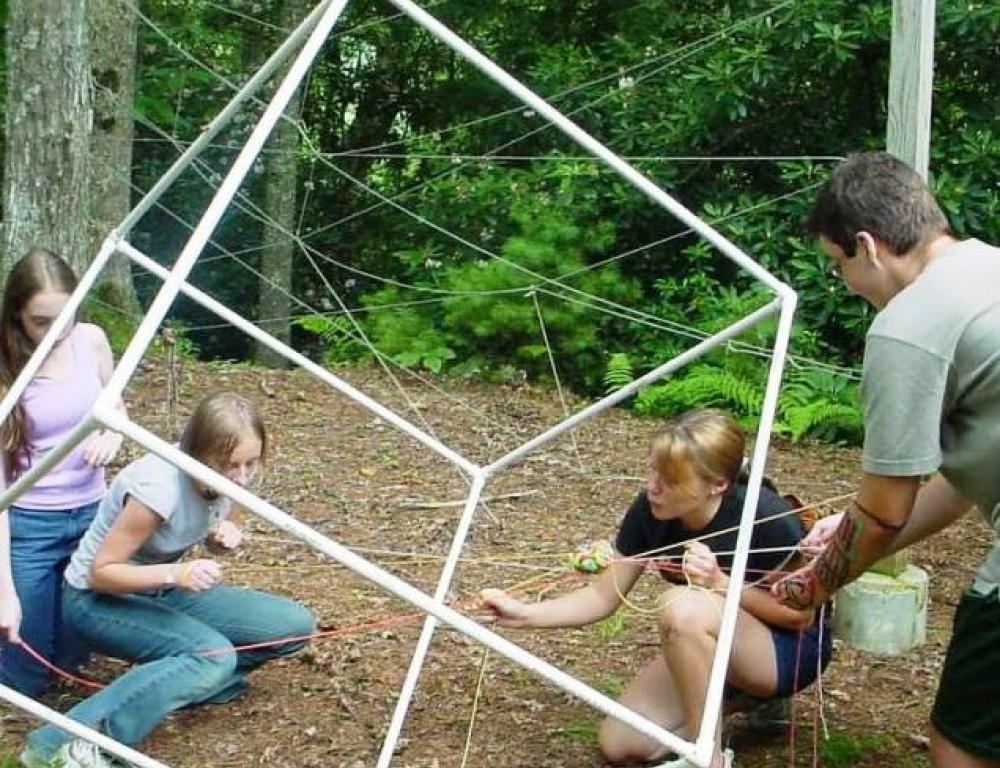 Our challenge course is available for teen groups and corporate groups.