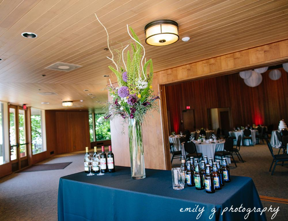 The versatile lobby in Cheatham Hall can be used for food service or vendor set ups.