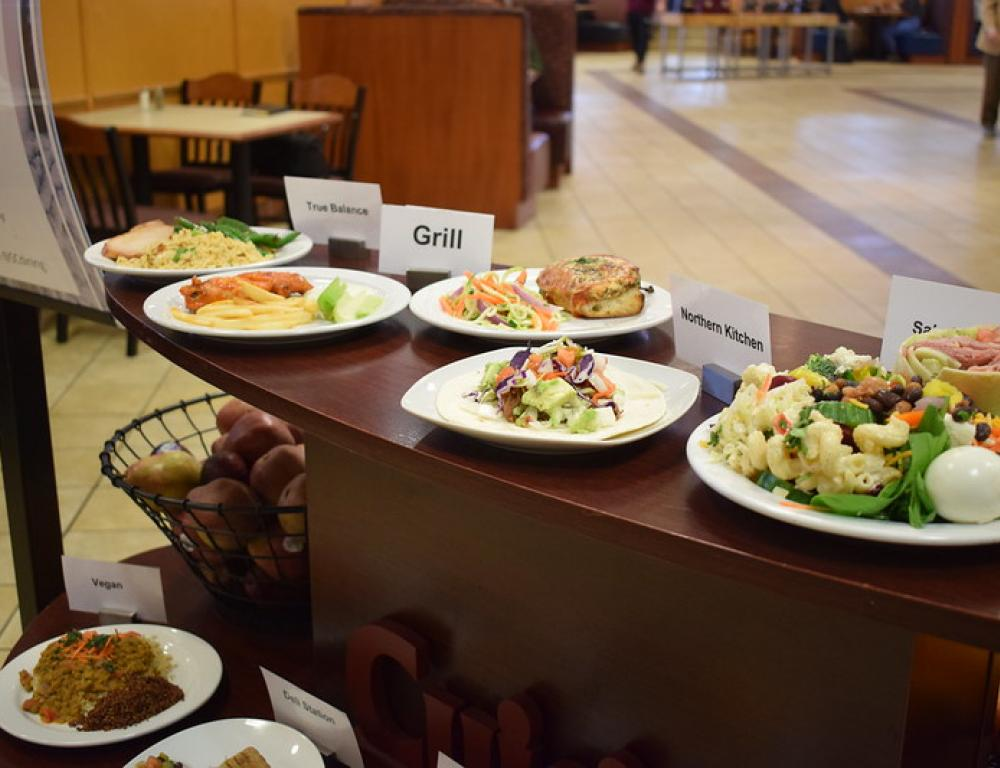 The Fresh Food Company in Cheney Hall offers a variety of options