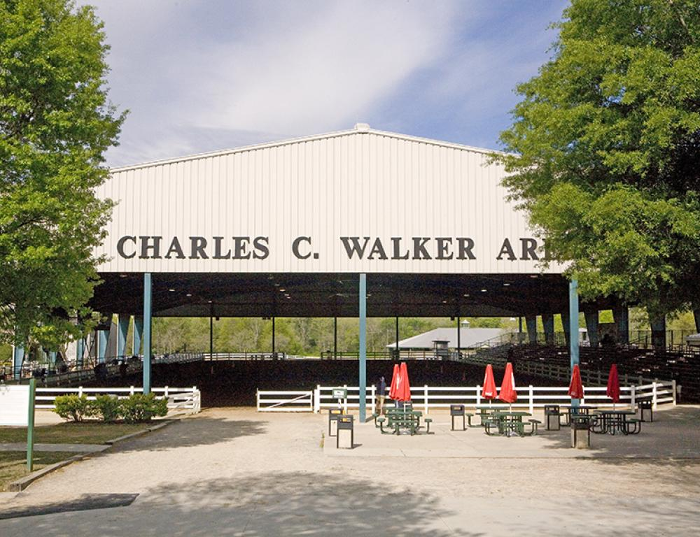 Charles C. Walker covered arena - seats up to 2,500 spectators