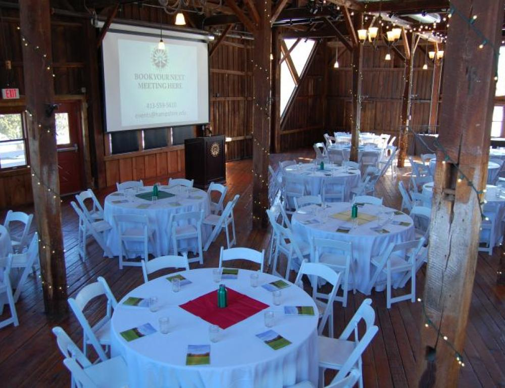 The Red Barn set up for a Conference