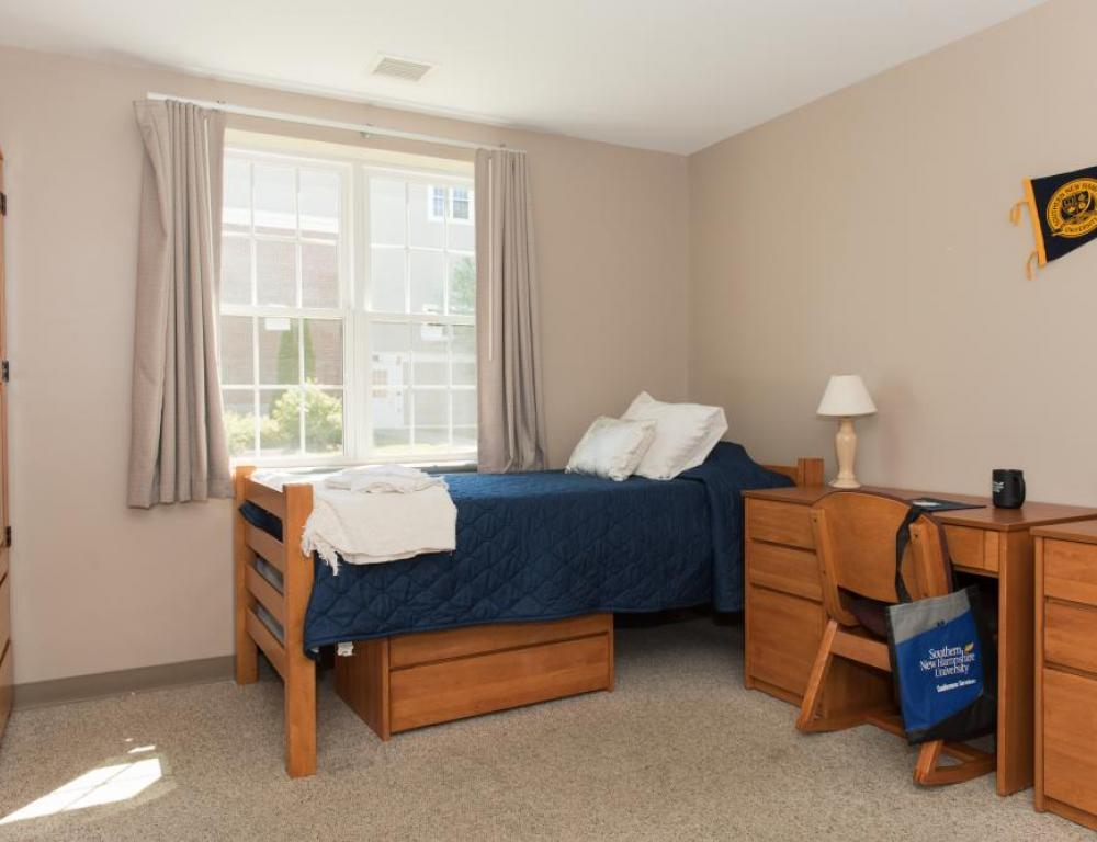 On campus housing includes: linens, amenities and common spaces for meetings and social time