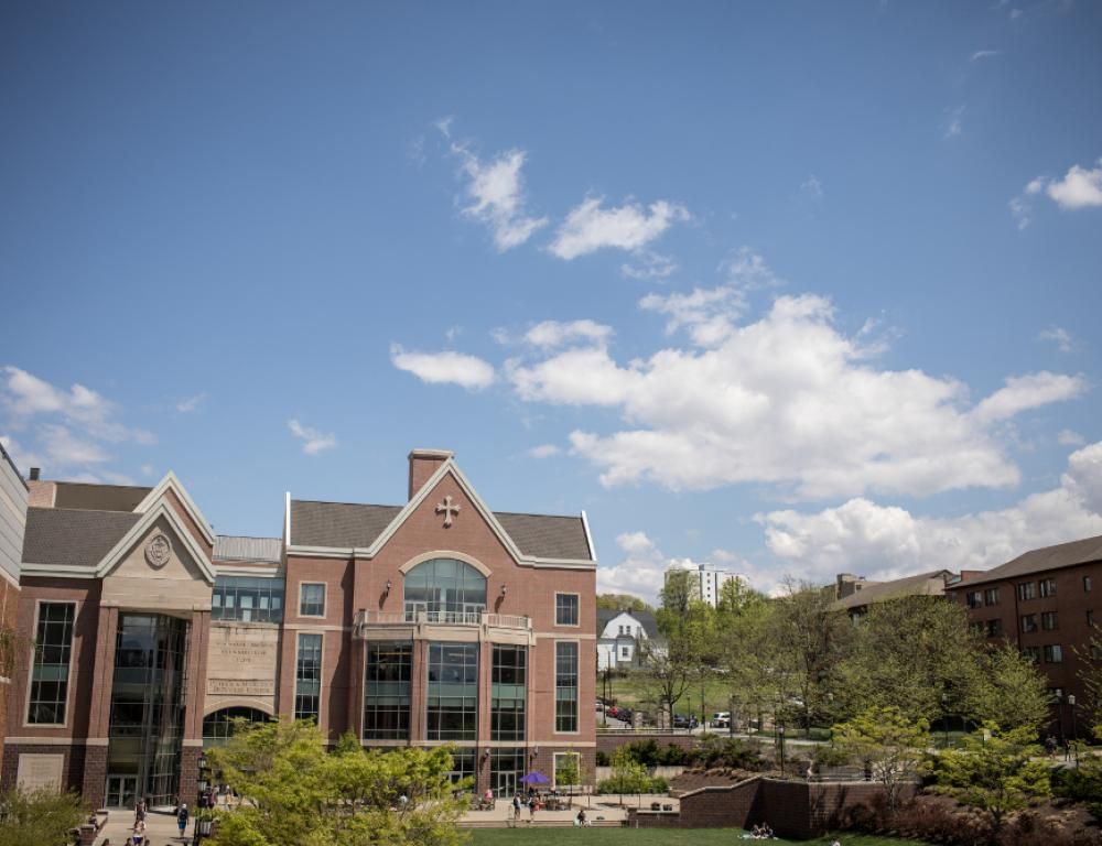 The DeNaples Center is the main hub of campus, featuring the McIlhenny Ballroom, meeting rooms, a newly-renovated food court, and the Fresh Food Company for breakfast, lunch and dinner.