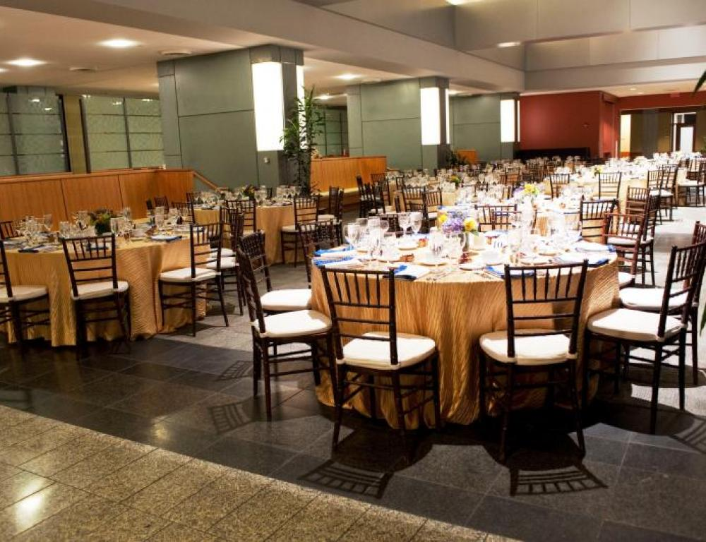 Elements with specialty linens and rental chairs